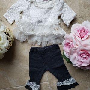 Little Lass 2pc Set (Lace & Ruffles)💗